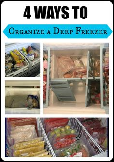 chest freezer deep freezer organization: it doesn't have to be a jumbled up mess in there! 4 great options to help you keep track of your frozen food Deep Freezer Organization, Organization Station, Household Organization, Recipe Organization, Home Organization Hacks, Organizing Your Home, Kitchen Organization, Organizing Ideas, Organize Chest Freezer