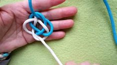 A 2-stranded wider lanyard knot shown by Mabel Marble