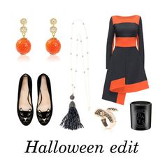 """Halloween edit. Fashion fun and fragrance"" by latelita ❤ liked on Polyvore featuring Charlotte Olympia, Lattori and Diptyque"