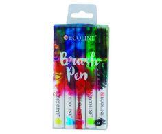 Set 5 brush pens Ecoline