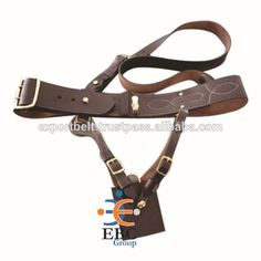 Military Sam browne Belt with sword frog, genuine leather military belts