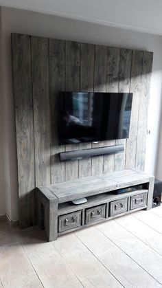 Wall Unit 2019 Wall Unit The post Wall Unit 2019 appeared first on Pallet ideas. Tv Unit Furniture, Pallet Furniture, Tv Wall Decor, Wall Tv, Tv Wall Design, Living Room Tv, Wall Mounted Tv, Wooden Diy, Interior Design Living Room