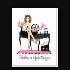 It takes a real woman to be fabulous! This side-fold white thank you note features a brunette woman in a little black dress sitting on top of her work desk. A zebra print chair sits behind the desk and a pink and zebra print rug sits below the desk. Fashion Quotes, Fashion Art, Fashion Images, Fashion Pictures, Fashion Tips, Zebra Print Rug, Posters Vintage, Brunette Woman, Dress Drawing