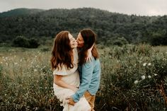 Blue Ridge Parkway, Blue Ridge Mountains, Mountain Engagement Photos, First Dates, Asheville, Photoshoot, Couple Photos, Wedding, Couple Shots