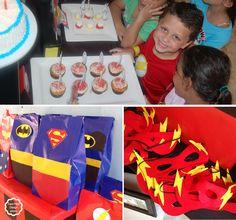 Fiesta de Superhéroes al estilo Fara Party Design.