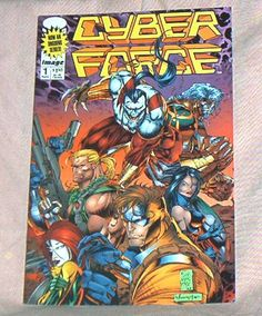 CYBER FORCE, # 1, Volume 2, Nov., 1993,  Regular Series, Marc and Eric Silvestri, First Printing, Image Comice, Fine+-Very Fine by brotoys1 on Etsy