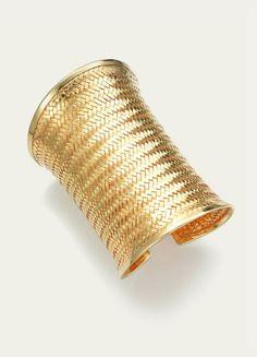 18k Gold Woven Bracelet