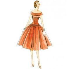 Vogue Pattern 1094- Misses Dress