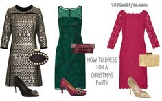 How to dress for a christmas party | 40plusstyle.com