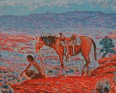 East to Ward Black Mesa by Shonto Begay kp
