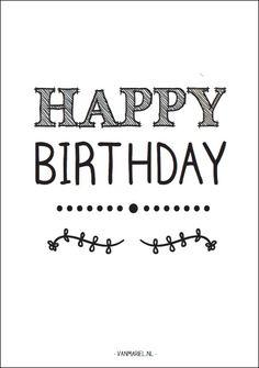 Kaart Happy Birthday #happybirthday #verjaardag #kaart