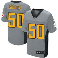 Ryan Shazier Men s Elite Grey Shadow Jersey  Nike NFL Pittsburgh Steelers   50 Curtis Martin 8bc1533bc
