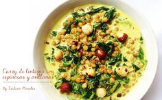 Recetas: Curry De Lentejas Con Espinacas Y Avellanas
