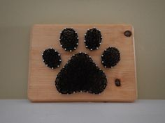 Paw Print String Art by BetweenTheNails on Etsy