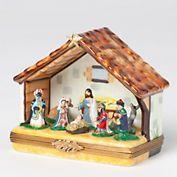 Limoges Nativity Christmas Box, Gump's