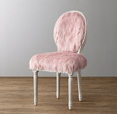 Image result for restoration hardware pink fur chair