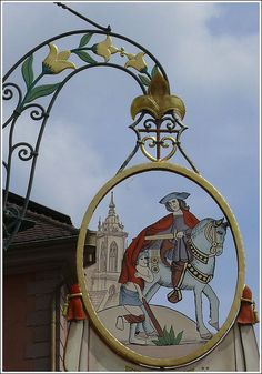 hotel sign Colmar, France by Mo Westein 1, via Flickr