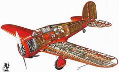 Lockheed Orion - пассажирский, почтовый самолет, 1930 год (США) Technical Illustration, Airplane Art, Civil Aviation, Rc Model, Aircraft Design, Cutaway, Scale Models, Sailing Ships, Planes