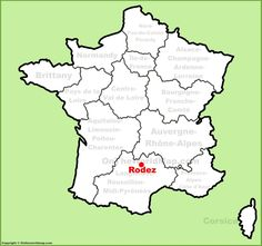 Rodez location on the France map