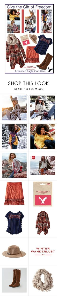 """""""Winter Wanderlust with American Eagle: Contest Entry"""" by dianefantasy ❤ liked on Polyvore featuring American Eagle Outfitters and aeostyle"""