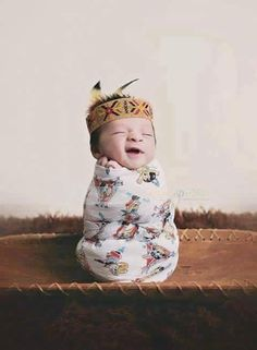 Too cute for words. Sorry I have no other info on this pic.  Native American Indian baby
