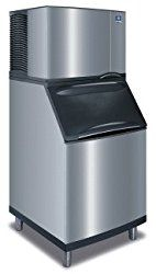 Manitowoc ID-0502A_B-570 530 Lb Air-Cooled Full Cube Ice Machine w/ Storage Bin