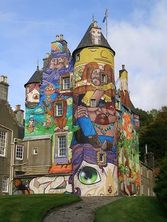 Kelburn Castle in Scotland, a Graffiti Castle