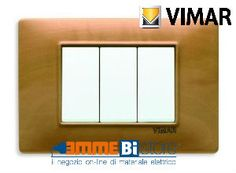 Placca 3 posti Vimar Plana #legno #Pero #vimar #seriecivile #plana #prezzoplacce #arredare #arredamento #design #illuminazione #interni #emmebistore #placca
