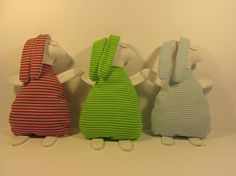 Bunnies baby toys rabbit red striped green striped blue
