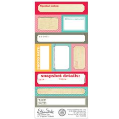 The Sweet Life - Lil' Snippets: Labels - love the colors!  These are gorgeous!  These were pinned previously, however, somehow the link was broken....but alas, here they are again! :)