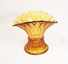 Art Deco Frosted Glass Dressing Table Bowl To Win A High Admiration British Friendly Vintage 1930s Yellow Amber Bagley Bagley/sowerby/davidson