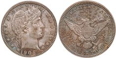1905 Barber Quarter PCGS MS64 CAC - Submitted by Thomas Bush of Thomas Bush Numismatics & Numismatic Photography (http://www.ivyleaguecoin.com) #CoinOfTheDay #COTD