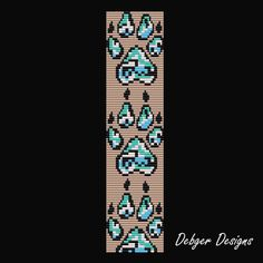 wolf Loom Beading Patterns | Wolf Tracks - Loom Bracelet Cuff Pattern