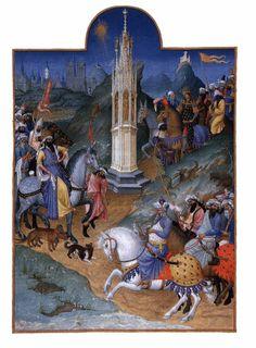 Limbourg brothers Les très riches heures du Duc de Berry. c. 1416,Illumination on vellum,Musée Condé, Chantilly