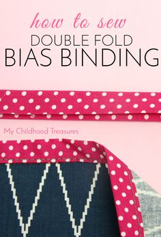 Learn how to sew double fold bias binding 2 easy way. Free Online Sewing Course by MCT