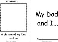 My Dad and I... Book, A Printable Book - EnchantedLearning.com