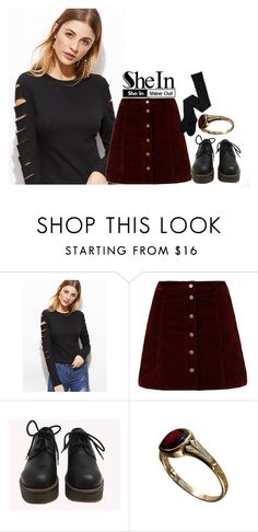 """""""SheIn    Black Ripped T-Shirt    Contest."""" by karlita-grace on Polyvore featuring moda y Nana'"""