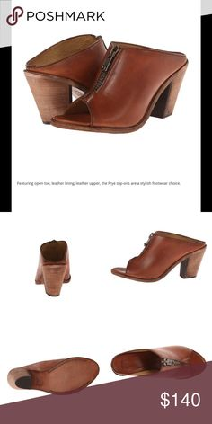 "Frye Izzy Moto Mule Izzy Moto mule shoe in the color ""Cognac"" by Frye company. Never worn. Frye Shoes Mules & Clogs"