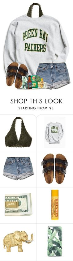 """@arieannahicks  rtd"" by katie-1111 ❤ liked on Polyvore featuring Hollister Co., Urban Outfitters, Birkenstock and Burt's Bees"