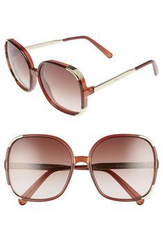 10319aeecdc2b Chloé Myrte 61mm Gradient Lens Square Sunglasses