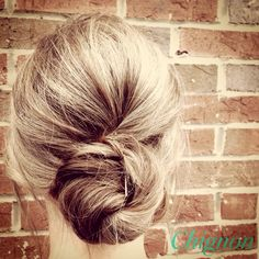 Chignon updo ... for work!