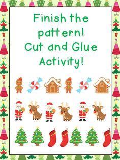 FREEBIE cut and glue pattern activity!