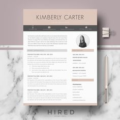 Contemporary Resume Templates Professional Resume Template  Modern Resume For Word  Cv Template .