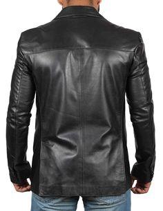 Real Lambskin Brown Leather Mens Blazer - Soomro Lambskin Leather Jacket, Leather Blazer, Faux Leather Jackets, Brown Leather, Men's Leather, Mens Essentials, Windbreaker Jacket, Motorcycle Jacket, Blazers
