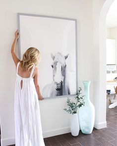 Presence wall art print by Minted artist Debra Butler. Make a big statement with an oversized art print. Entry Way Design, Foyer Design, Oversized Wall Art, Room Of One's Own, Living Room Art, Beach Art, Custom Art, Interiores Design, Wall Art Prints