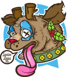 Rudolph - Deer, which loves Santana by mr Kepz