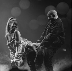 Drake shares steamy photos of himself and Rihanna doing their usual