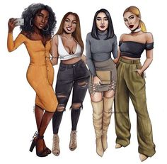 Ideas fashion drawing jeans for 2019 Black Love Art, Black Girl Art, Black Girl Magic, Black Girls, Art Girl, Best Friend Drawings, Girly Drawings, Black Girl Cartoon, Black Art Pictures