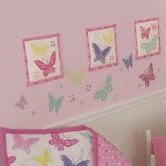 Sumersault Butterfly Block Decal--at Walmart