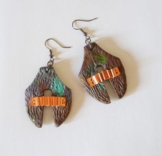 polymer clay earrings with copper details